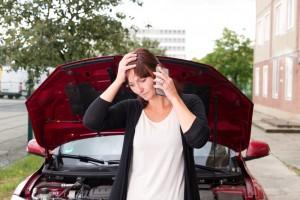telefonieren bei Autopanne